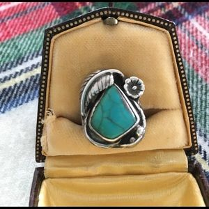 Vintage turquoise ring Sterling